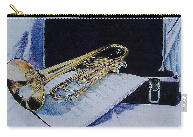 Instrument Carry-all Pouch featuring the mixed media Aaron's Pride by Constance Drescher