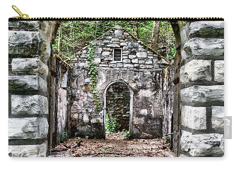Abandoned Carry-all Pouch featuring the photograph Abandoned Bath House Ver 2 by Larry Jost