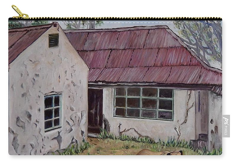 Architecture Carry-all Pouch featuring the painting Abandoned. by Caroline Street