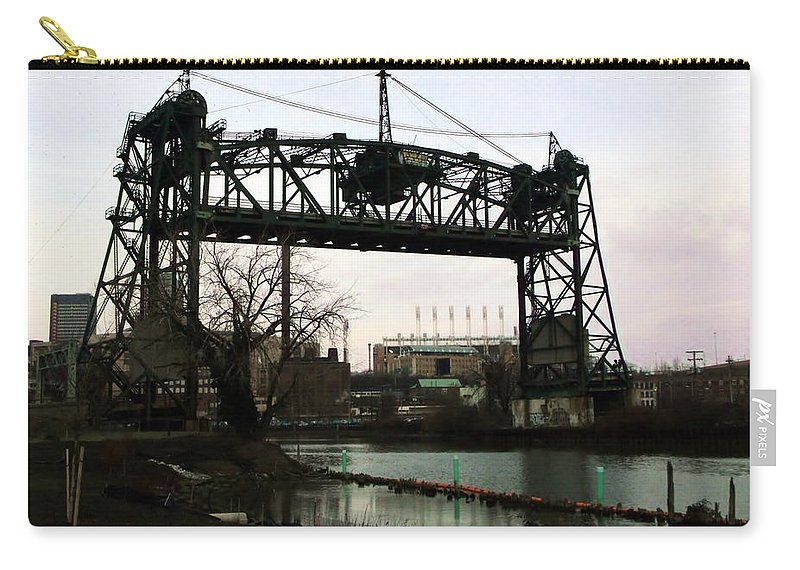 Bridge Carry-all Pouch featuring the photograph Abandoned Eagle Ave Bridge by Wendy Gertz