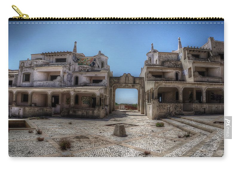 Urbex Carry-all Pouch featuring the digital art Abandoned Holidays by Nathan Wright