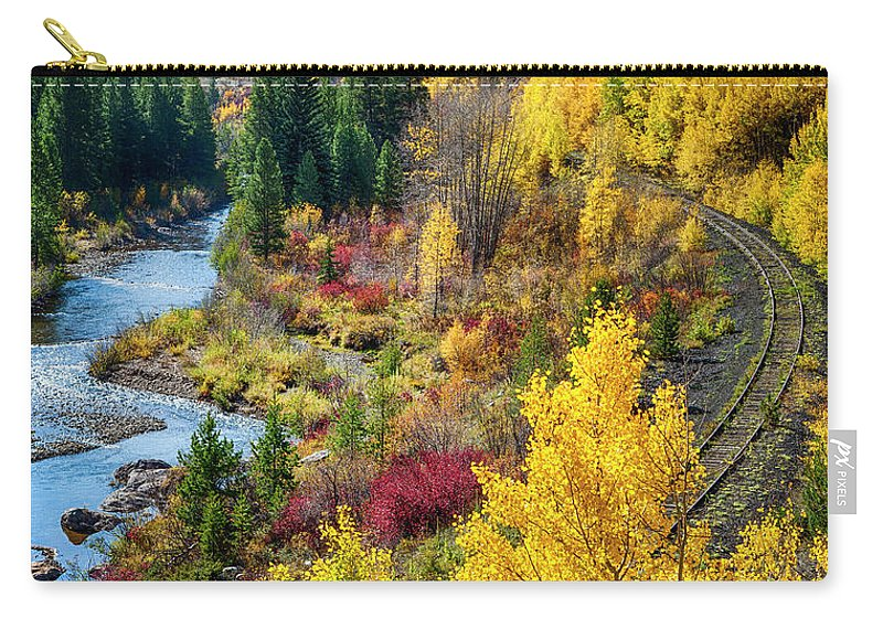 Scenics Carry-all Pouch featuring the photograph Abandoned Railway by C. Fredrickson Photography