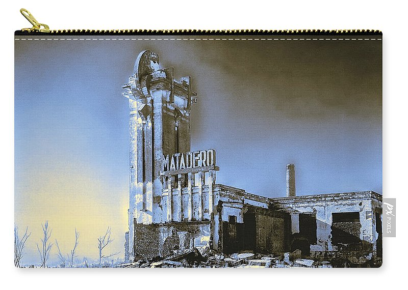 Matadero Carry-all Pouch featuring the photograph Abandoned Slaughterhouse In Winter by Dominic Piperata
