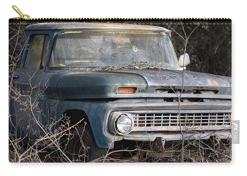 Truck Carry-all Pouch featuring the photograph Abandoned by Terry Fleckney