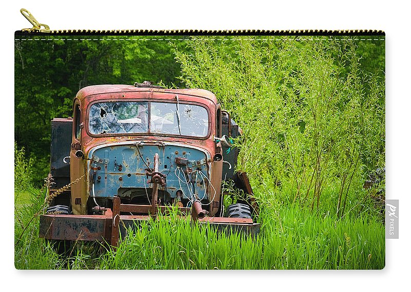 3scape Photos Carry-all Pouch featuring the photograph Abandoned Truck in Rural Michigan by Adam Romanowicz