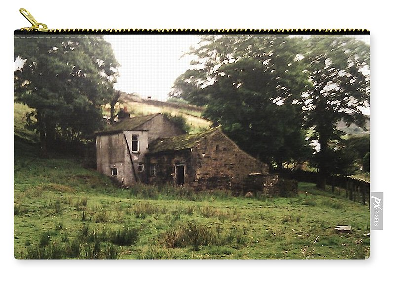Abandoned Carry-all Pouch featuring the photograph Abandoned Yorkshire House by Martin Howard