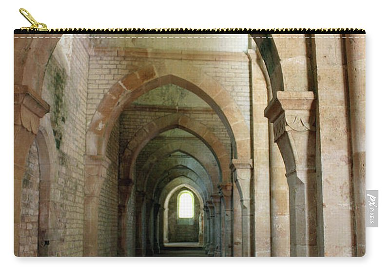 Abbey Carry-all Pouch featuring the photograph Abbey Fontenay I by Christiane Schulze Art And Photography
