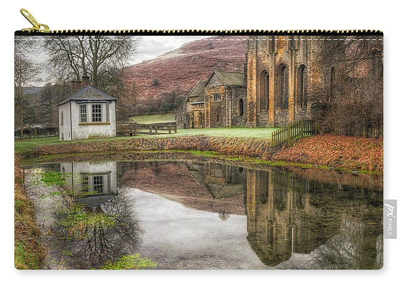 13th Century Carry-all Pouch featuring the photograph Abbey Reflection by Adrian Evans