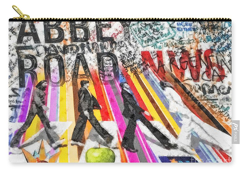 Abbey Road Carry-all Pouch featuring the mixed media Abbey Road by Mo T