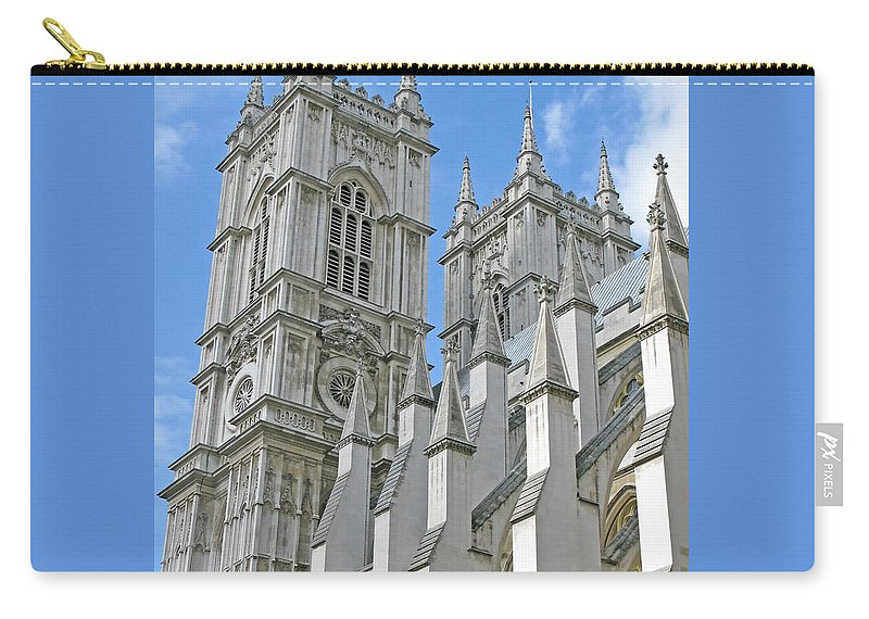 London Carry-all Pouch featuring the photograph Abbey Towers by Ann Horn