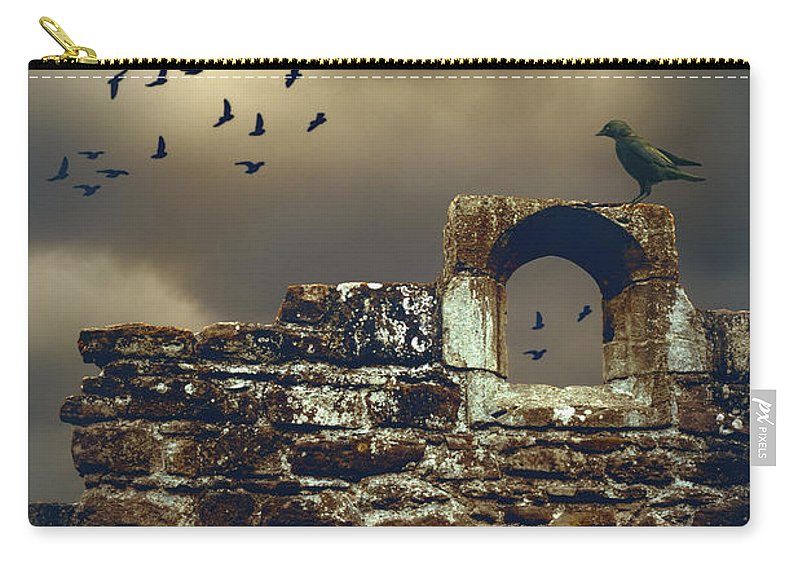 Wall Carry-all Pouch featuring the photograph Abbey Wall by Amanda Elwell