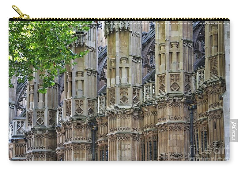 London Carry-all Pouch featuring the photograph Abbey Walls by Stephanie Guinn