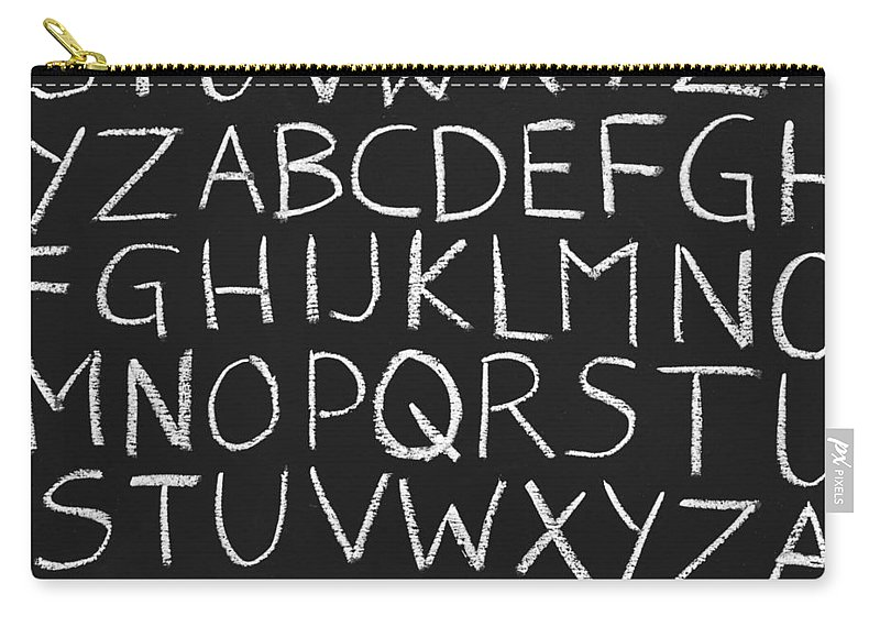 Alphabet Carry-all Pouch featuring the photograph Abc On A Chalkboard by Chevy Fleet