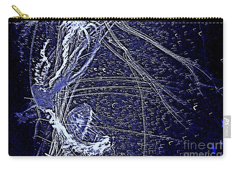 Abstract Carry-all Pouch featuring the photograph Aberration Of Jelly Fish In Rhapsody Series 3 by Antonia Citrino