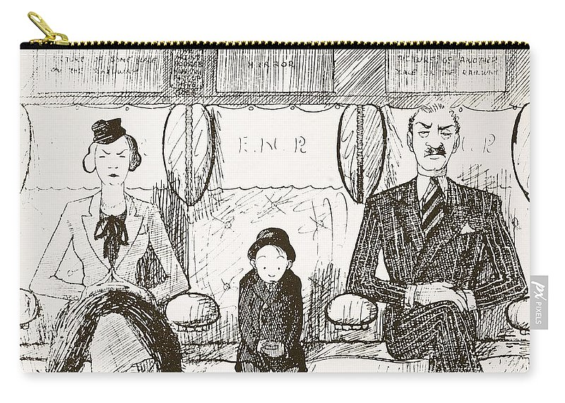 Cartoon Carry-all Pouch featuring the drawing Ability To Be Ruthless, Illustration by Pont