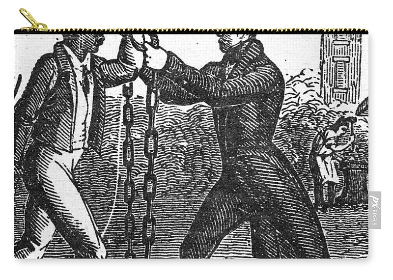 1840 Carry-all Pouch featuring the painting Abolitionist, C1840 by Granger