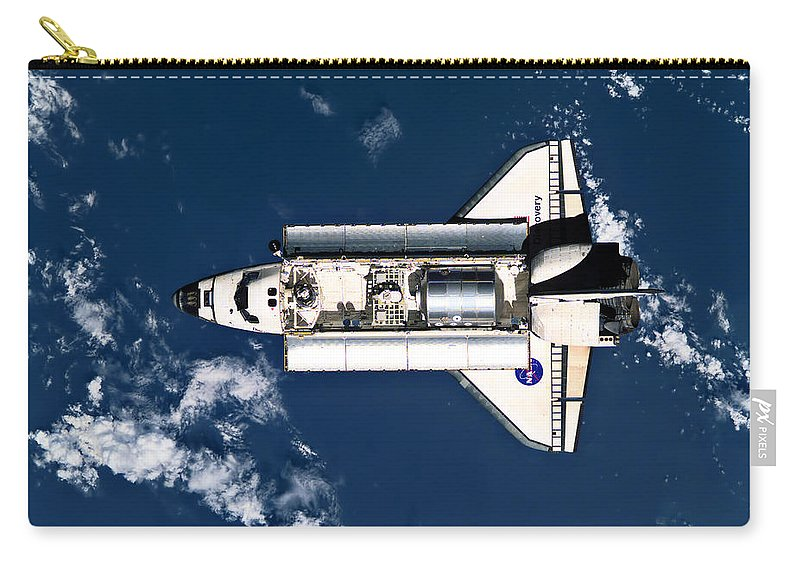 Space Carry-all Pouch featuring the photograph Above Earth by Ricky Barnard