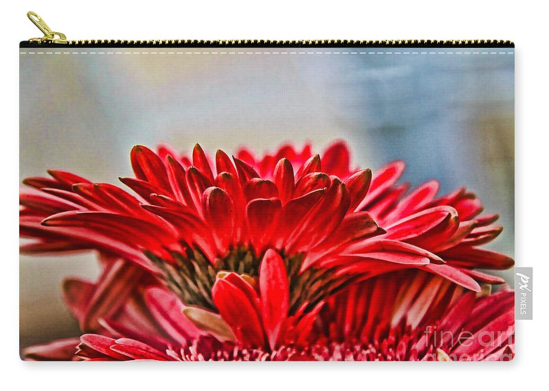Gerbera Carry-all Pouch featuring the photograph Above The Rest By Diana Sainz by Diana Raquel Sainz