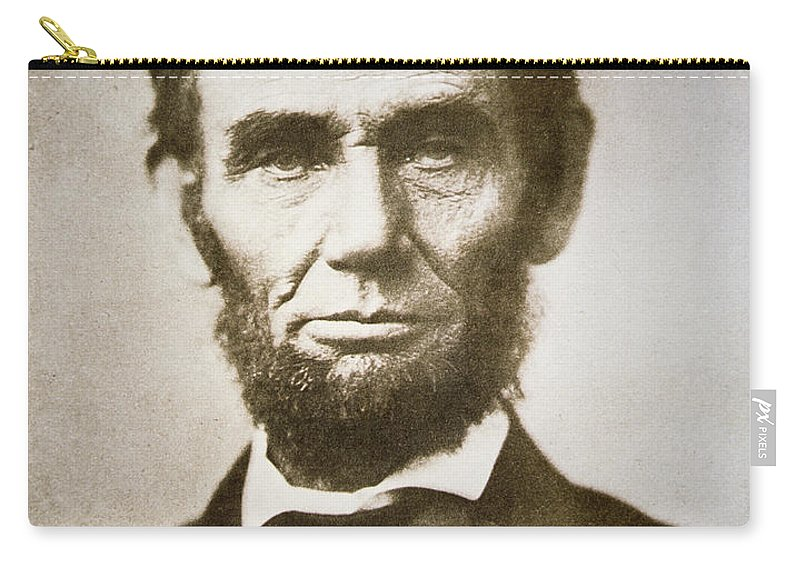 Abraham Carry-all Pouch featuring the photograph Abraham Lincoln by Alexander Gardner