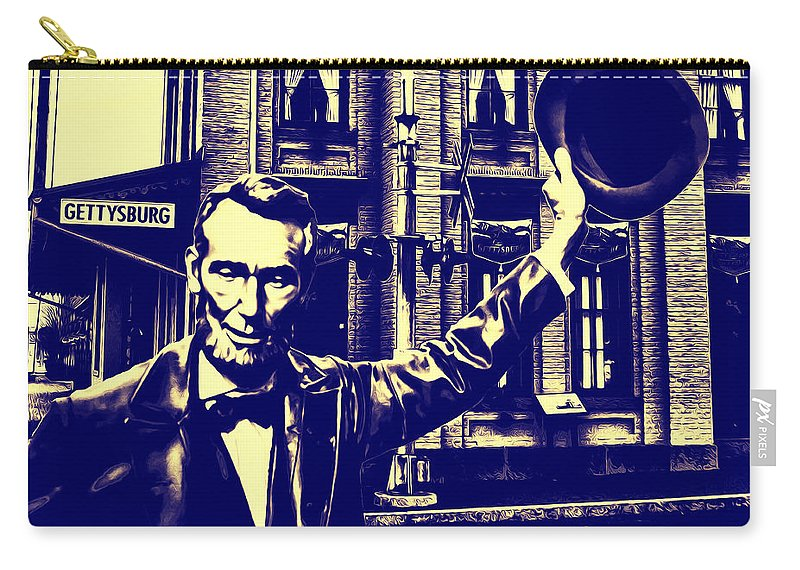 Abraham Lincoln At Gettysburg Carry-all Pouch featuring the photograph Abraham Lincoln At Gettysburg by Bill Cannon