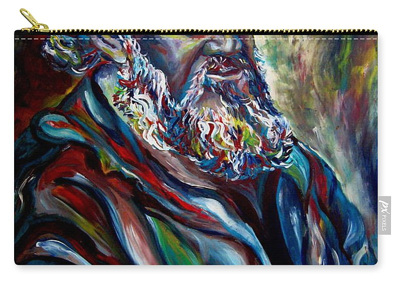 Abraham Patriarh Carry-all Pouch featuring the painting Abraham Patriarch by Carole Spandau