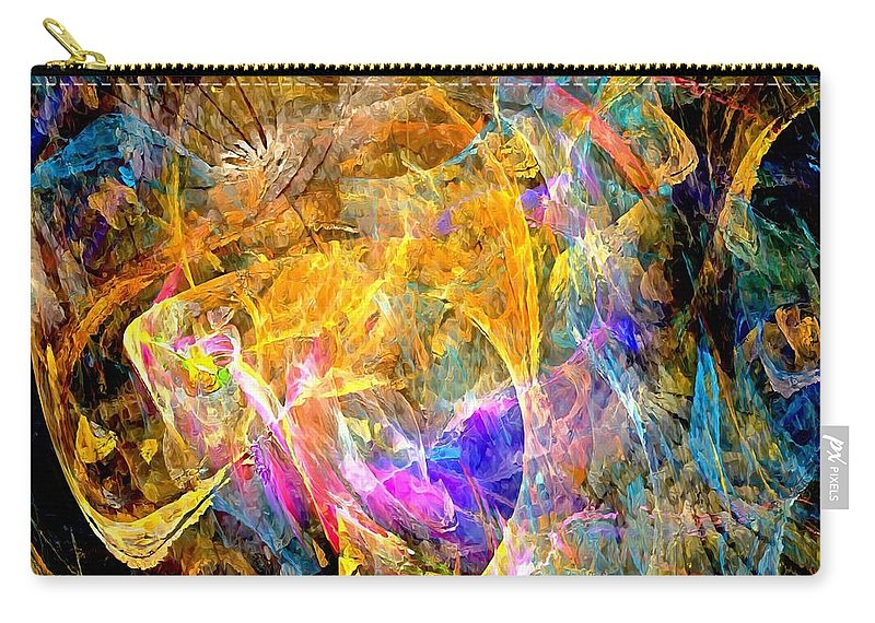 Graphics Carry-all Pouch featuring the digital art Abs 0397 by Marek Lutek