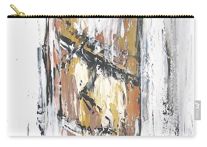 Graphics Carry-all Pouch featuring the painting Rapanui 474 - Marucii by Marek Lutek