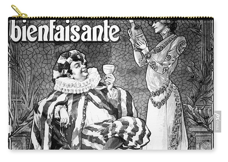 1892 Carry-all Pouch featuring the photograph Absinthe Poster, 1892 by Granger