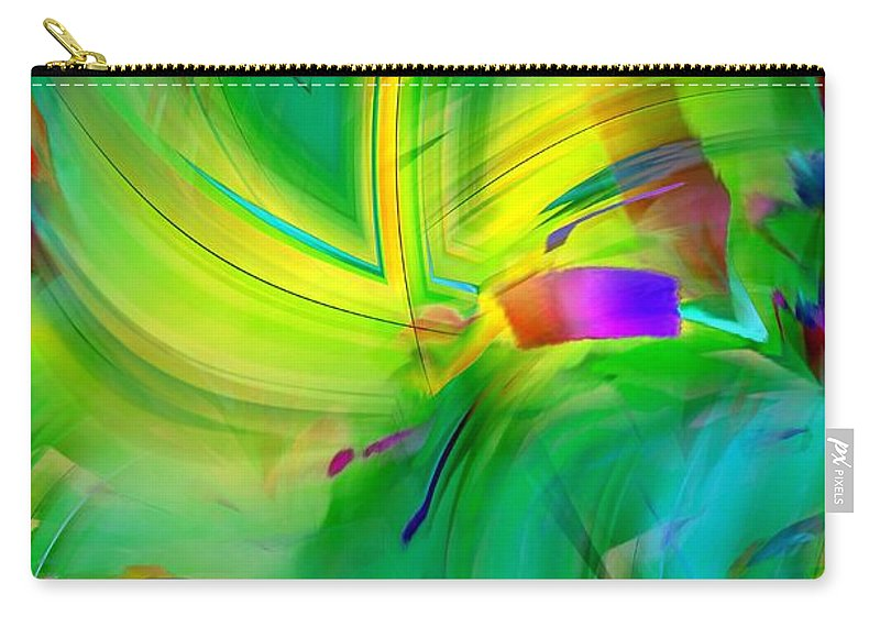 Abstract 019 Carry-all Pouch featuring the photograph Abstract 019 by Maria Urso