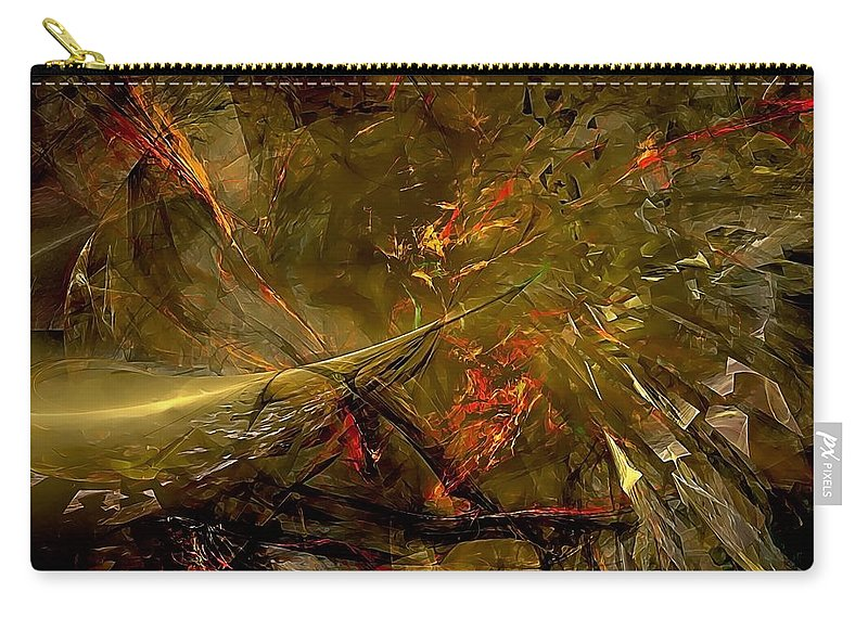 Graphics Carry-all Pouch featuring the digital art Abstract 0370 - Marucii by Marek Lutek