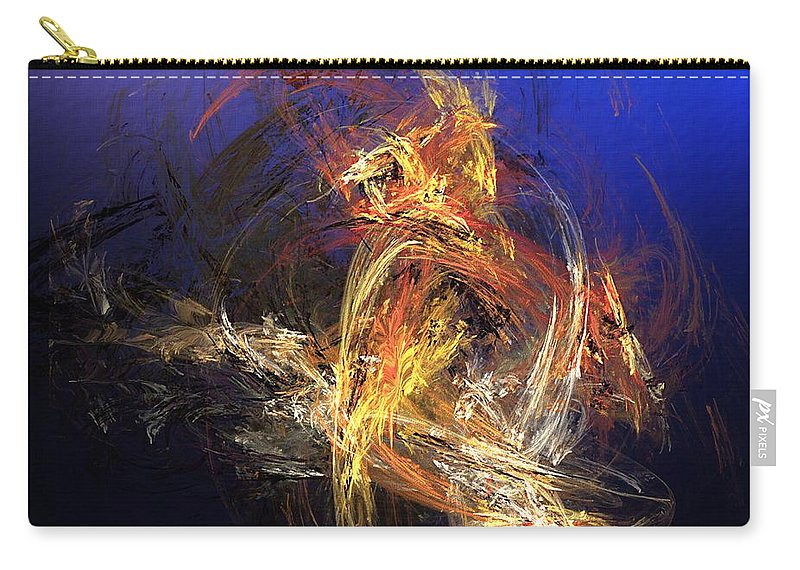 Fine Art Carry-all Pouch featuring the digital art Abstract 042113a by David Lane