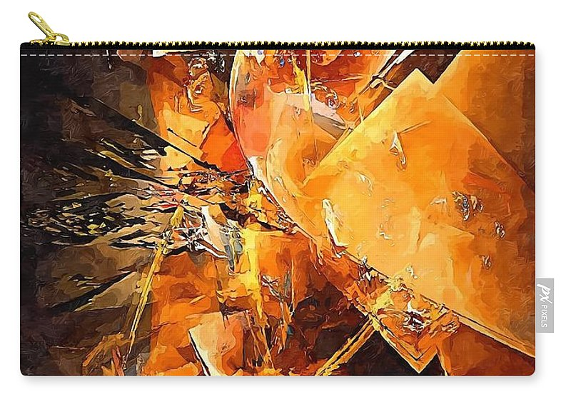 Graphics Carry-all Pouch featuring the digital art Abstract 0549 - Marucii by Marek Lutek