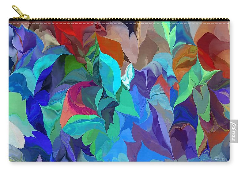 Abstract Carry-all Pouch featuring the digital art Abstract 062713 by David Lane
