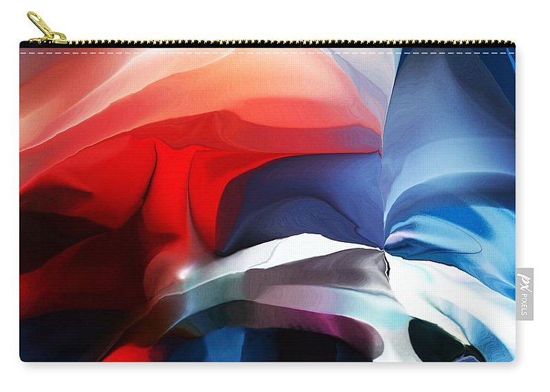Abstract Carry-all Pouch featuring the digital art Abstract 071713 by David Lane