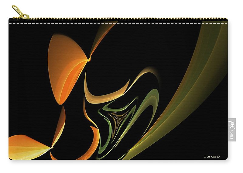 Abstract Carry-all Pouch featuring the digital art Abstract 092713 by David Lane
