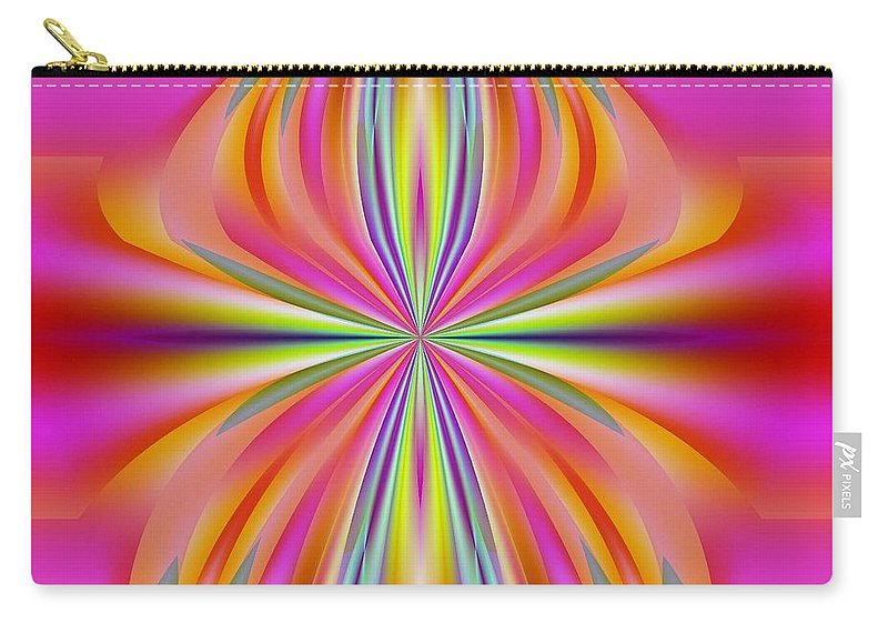 Abstract Carry-all Pouch featuring the digital art Abstract 153 by Maria Urso