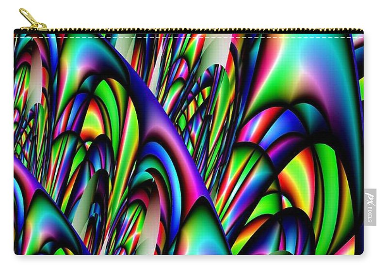 Abstract 155 Carry-all Pouch featuring the digital art Abstract 155 by Maria Urso