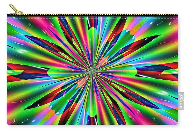 Abstract 158 Carry-all Pouch featuring the digital art Abstract 158 by Maria Urso