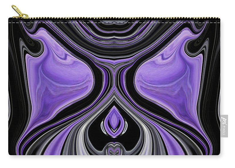 Black Carry-all Pouch featuring the painting Abstract 166 by J D Owen