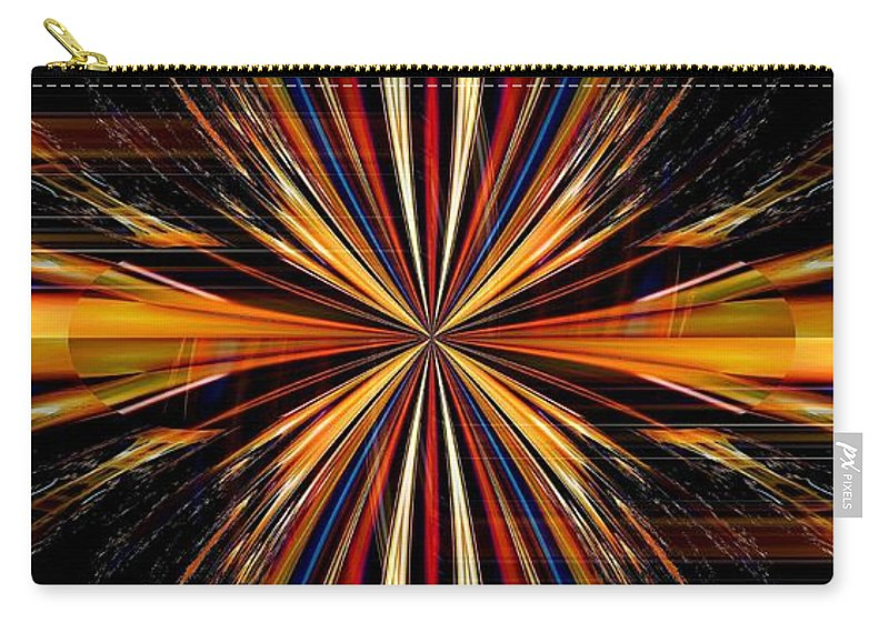 Abstract Carry-all Pouch featuring the digital art Abstract 171 by Maria Urso