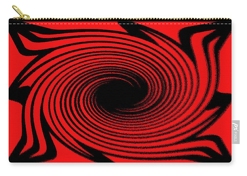 Red Carry-all Pouch featuring the photograph Abstract #2 by Judy Whitton