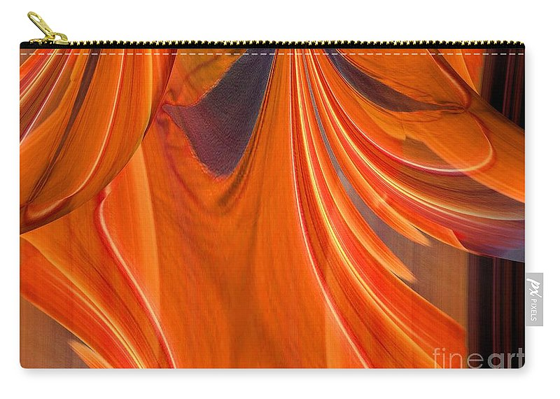 Abstract 201 Carry-all Pouch featuring the digital art Abstract 201 by Maria Urso