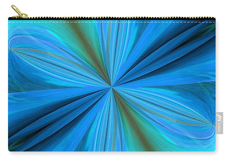 Abstract 221 Carry-all Pouch featuring the digital art Abstract 221 by Maria Urso