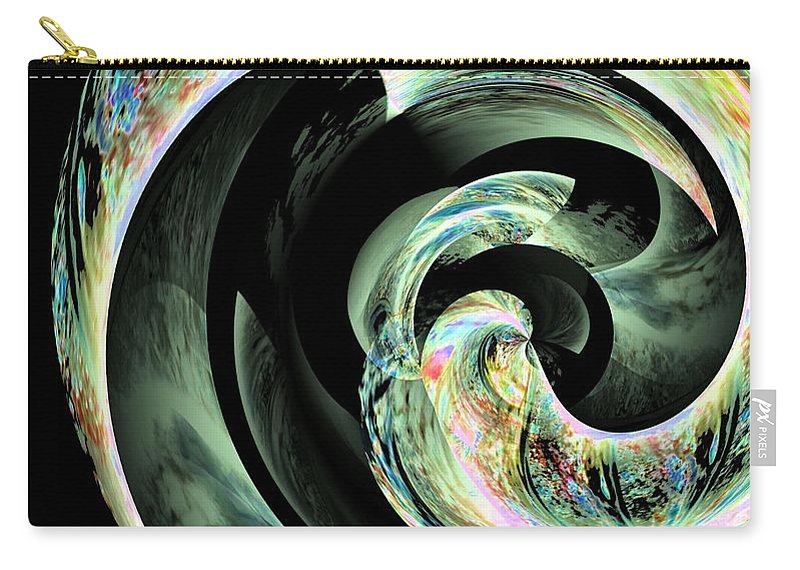 Abstract 291 Carry-all Pouch featuring the digital art Abstract 291 by Maria Urso