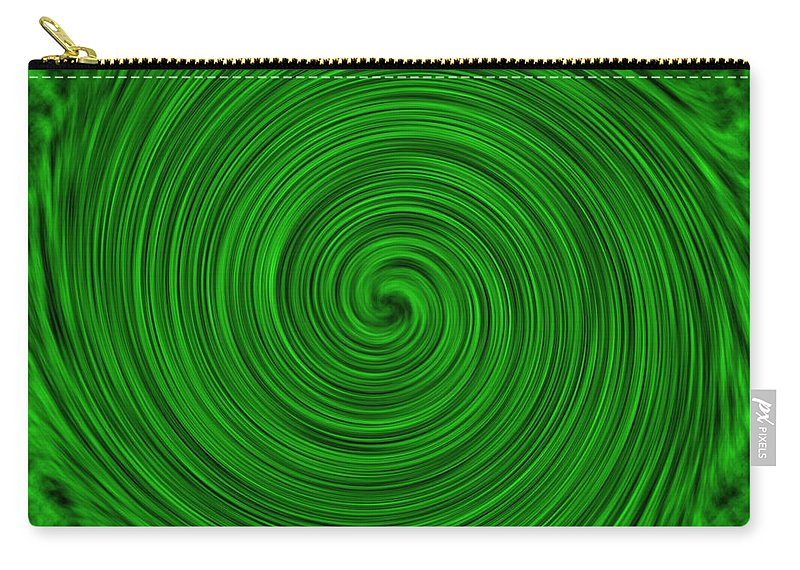 Green Carry-all Pouch featuring the photograph Abstract #3 by Judy Whitton