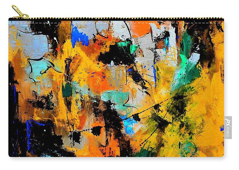Abstract Carry-all Pouch featuring the painting Abstract 315002 by Pol Ledent