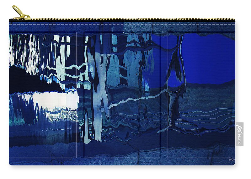 Indigo Carry-all Pouch featuring the photograph Abstract 5 by Xueling Zou