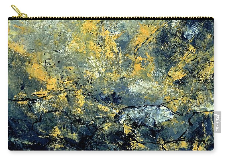 Abstract Carry-all Pouch featuring the painting Abstract 8313061 by Pol Ledent