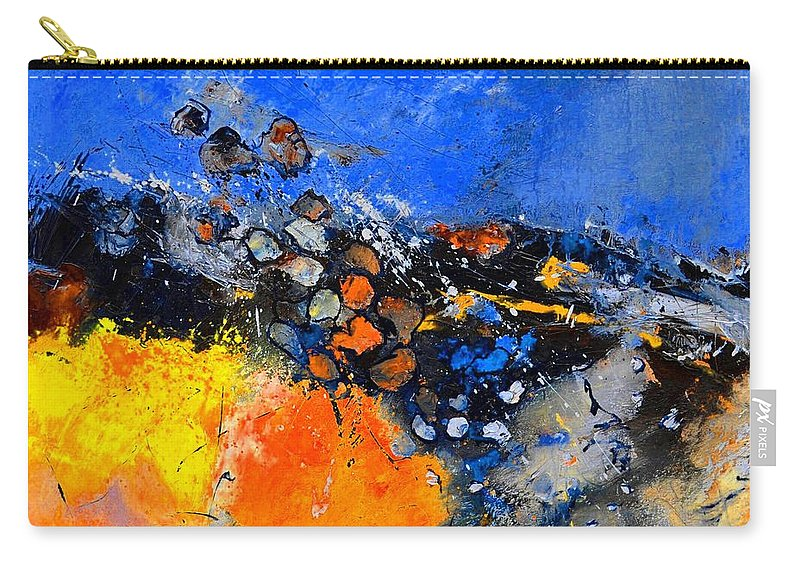 Abstract Carry-all Pouch featuring the painting Abstract 88411133 by Pol Ledent