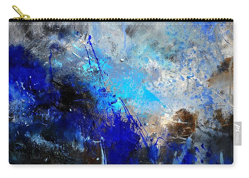 Abstract Carry-all Pouch featuring the painting Abstract 964180 by Pol Ledent
